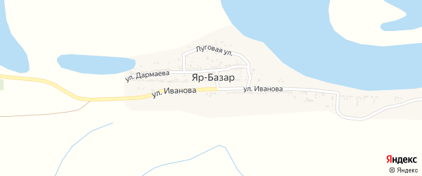 Улица Иванова на карте села Яра-Базара с номерами домов