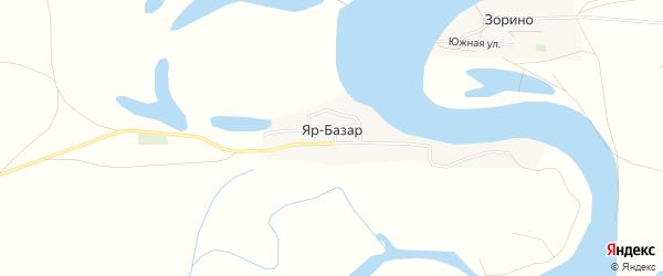 Карта села Яра-Базара в Астраханской области с улицами и номерами домов