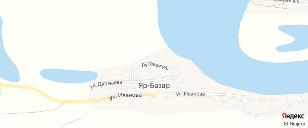 Луговая улица на карте села Яра-Базара с номерами домов