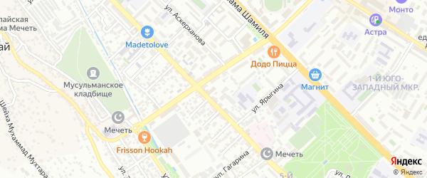 Гагарина 3-й тупик на карте Махачкалы с номерами домов