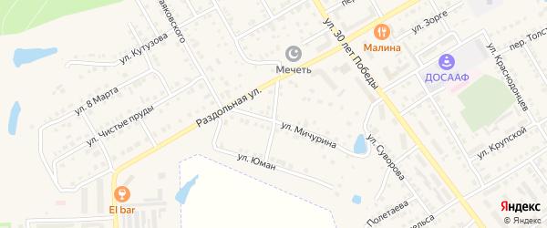 Переулок Мичурина на карте Канаша с номерами домов
