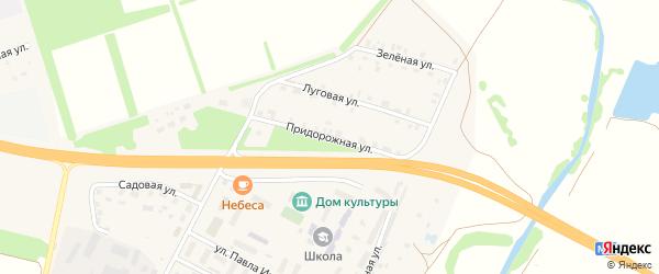 Придорожная улица на карте Опытного поселка с номерами домов
