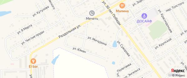 Улица Мичурина на карте Канаша с номерами домов