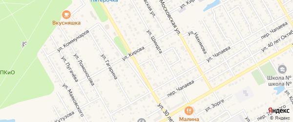 Улица Дзержинского на карте Канаша с номерами домов