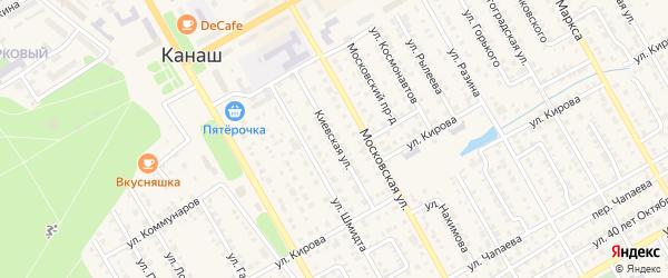 Киевская улица на карте Канаша с номерами домов
