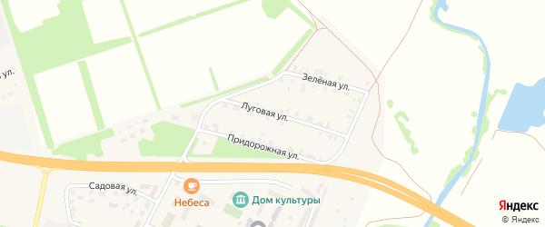 Луговая улица на карте Опытного поселка с номерами домов