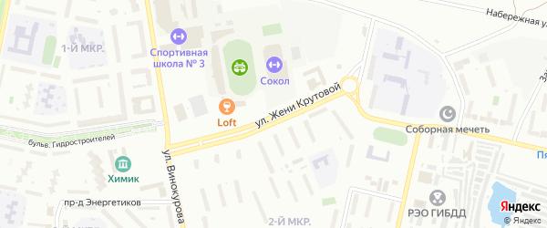 Улица Ж.Крутовой на карте Новочебоксарска с номерами домов