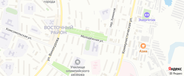 Молодежная улица на карте Новочебоксарска с номерами домов