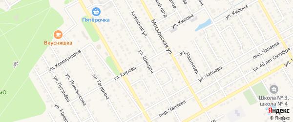 Улица Шмидта на карте Канаша с номерами домов