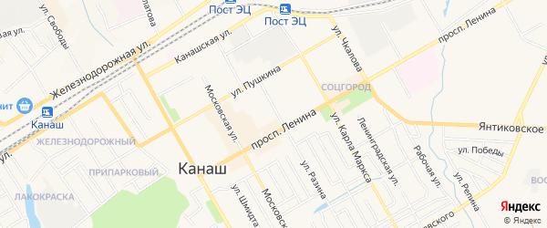 ГСК Северный-3 на карте Канаша с номерами домов