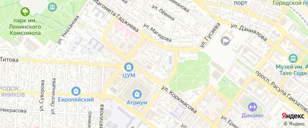 Переулок Аджиева на карте Махачкалы с номерами домов
