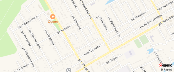 Переулок Шмидта на карте Канаша с номерами домов