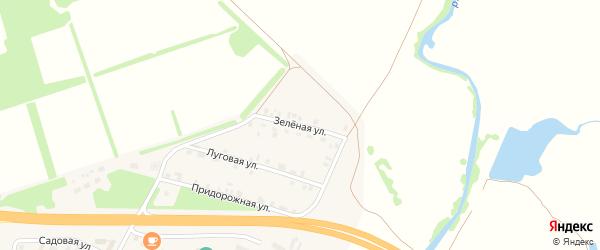 Зеленая улица на карте Опытного поселка с номерами домов