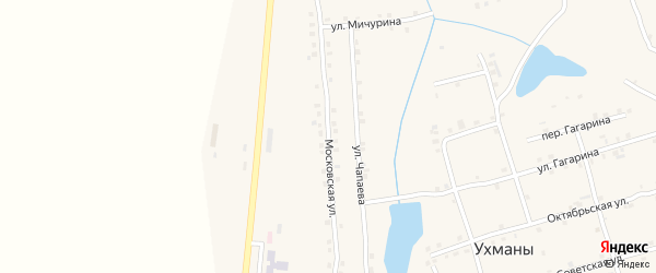 Московская улица на карте села Ухманы с номерами домов