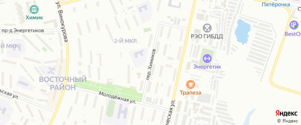 Переулок Химиков на карте Новочебоксарска с номерами домов