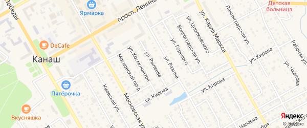 Улица Рылеева на карте Канаша с номерами домов