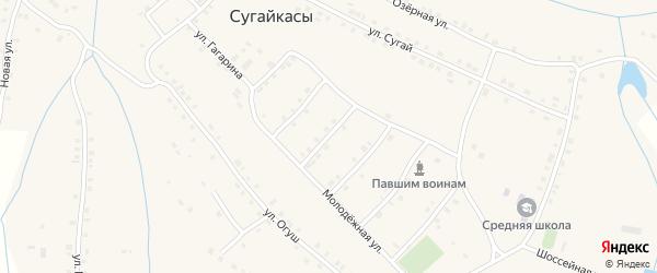 Молодежная улица на карте деревни Сугайкас с номерами домов