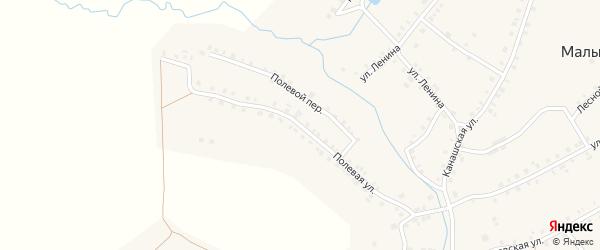Полевая улица на карте деревни Малые Бикшихи с номерами домов