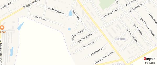 Улица Полетаева на карте Канаша с номерами домов