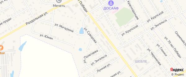 Улица Суворова на карте Канаша с номерами домов