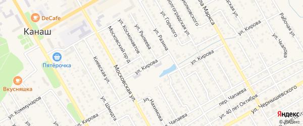 Улица Кирова на карте Канаша с номерами домов
