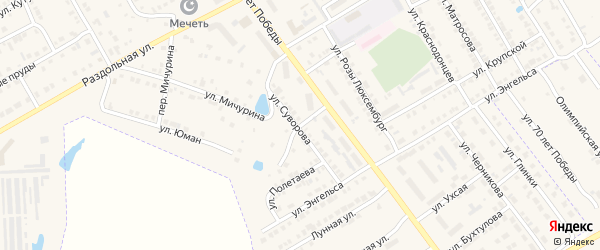 Переулок Суворова на карте Канаша с номерами домов