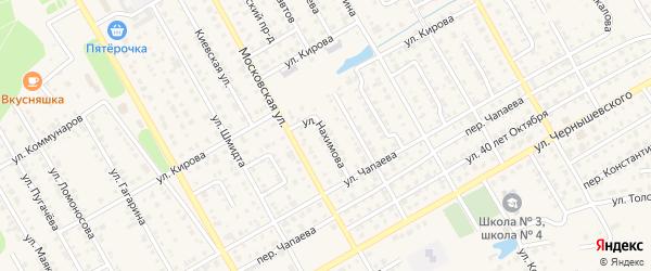 Улица Нахимова на карте Канаша с номерами домов