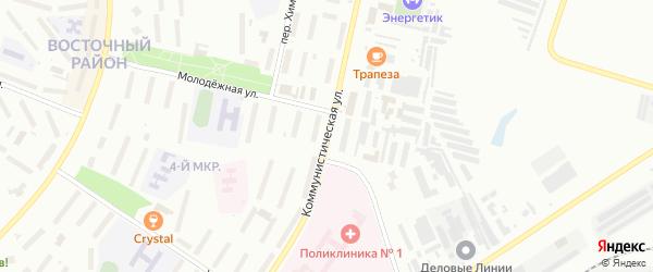 Коммунистическая улица на карте Новочебоксарска с номерами домов
