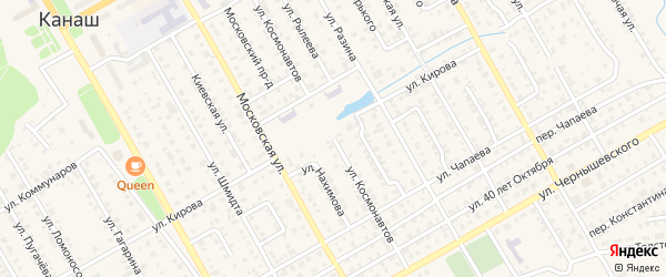 Улица Космонавтов на карте Канаша с номерами домов