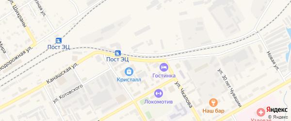 Канашская улица на карте Канаша с номерами домов
