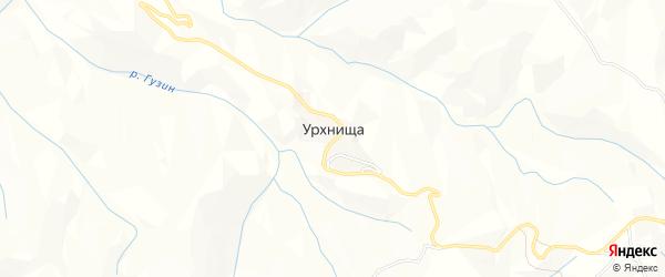 Карта села Урхнищи в Дагестане с улицами и номерами домов