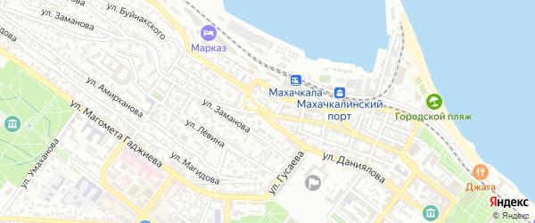 Улица Буйнакского на карте поселка Ленинкента с номерами домов