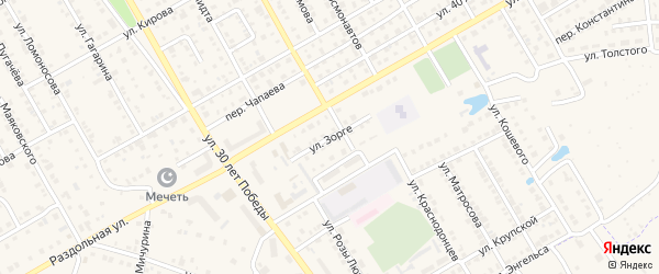 Улица Зорге на карте Канаша с номерами домов