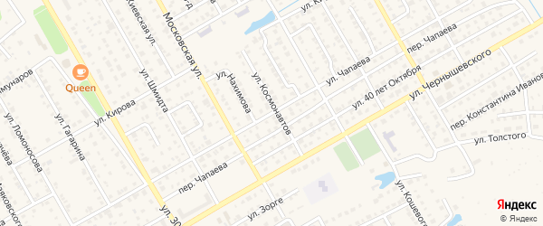 Улица Чапаева на карте Канаша с номерами домов