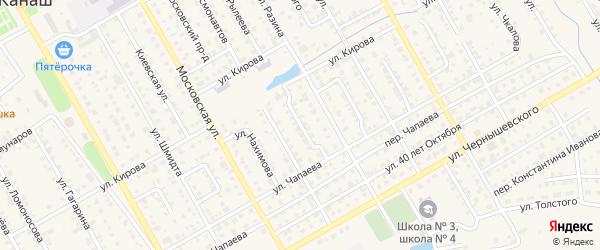 Улица Декабристов на карте Канаша с номерами домов