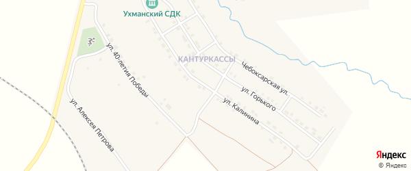 Улица Калинина на карте села Ухманы с номерами домов