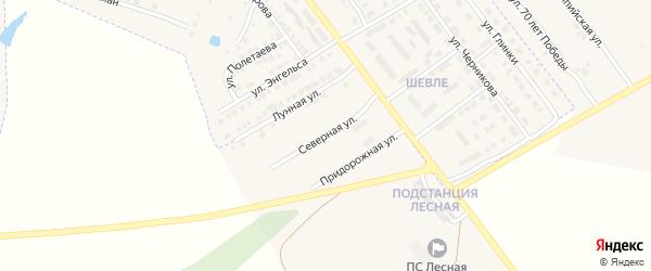 Северная улица на карте Канаша с номерами домов