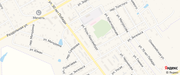 Улица Р.Люксембург на карте Канаша с номерами домов