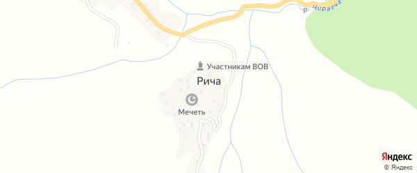 Ричинская улица на карте села Рича с номерами домов