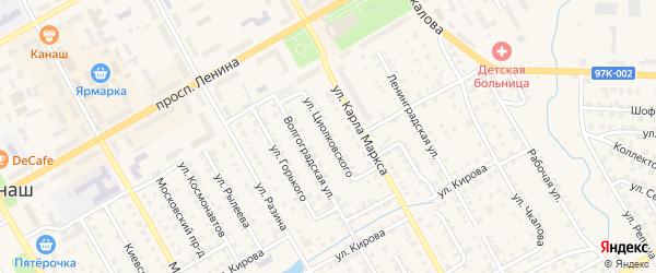 Улица Циолковского на карте Канаша с номерами домов