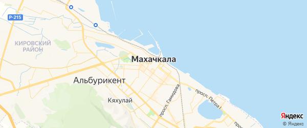Карта Махачкалы с районами, улицами и номерами домов