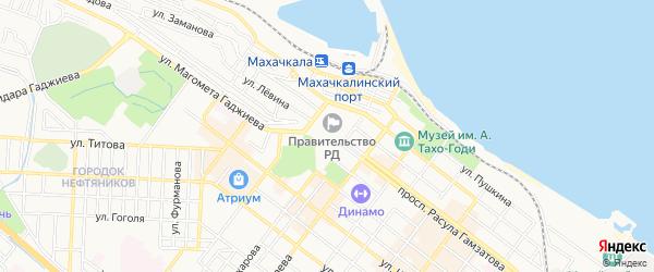 Карта микрорайона Мехлесхоза города Махачкалы в Дагестане с улицами и номерами домов