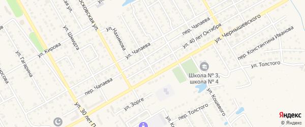 Улица 40 лет Октября на карте Канаша с номерами домов