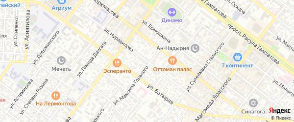 Улица Нурадилова на карте Махачкалы с номерами домов