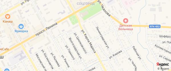 Улица К.Маркса на карте Канаша с номерами домов