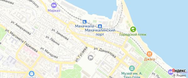 Переулок Канделаки на карте Махачкалы с номерами домов