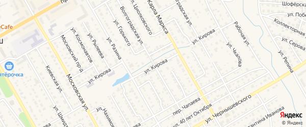 Волгоградская улица на карте Канаша с номерами домов