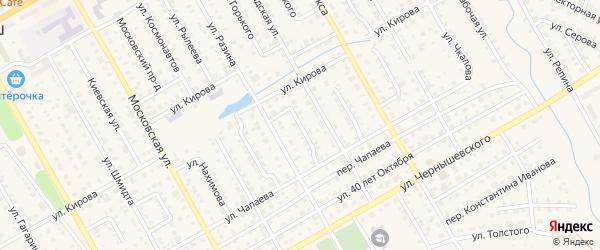 Улица Володарского на карте Канаша с номерами домов
