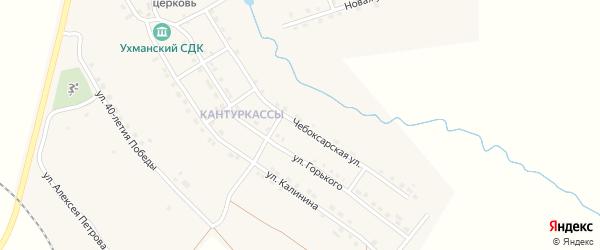 Чебоксарская улица на карте села Ухманы с номерами домов