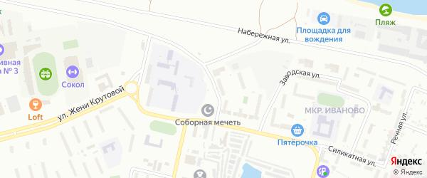 Речной бульвар на карте Новочебоксарска с номерами домов